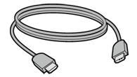 Illustration of an Xbox 360 HDMI cable