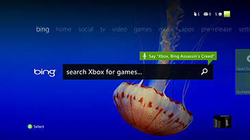 Bing search on Xbox 360
