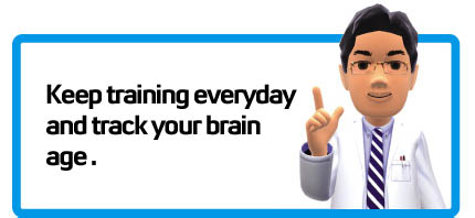 Keep training everyday to track your brain age over time.