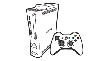 Xbox 360-konsol i originalutförande