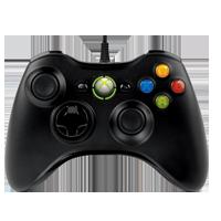 Controle com fio Preto Xbox 360