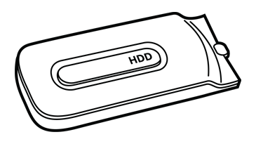 Illustration du disque dur de la console Xbox 360 d'origine