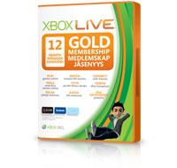 12-måneders Gold-medlemskapskort for Xbox Live