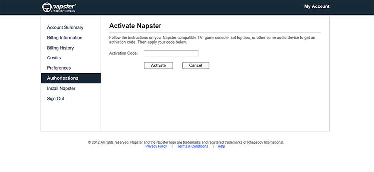 napster account free