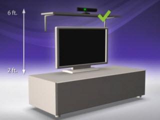 Расположение сенсора Kinect