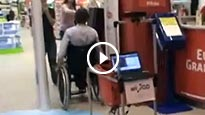 Grocery cart loyally follows disabled shoppers