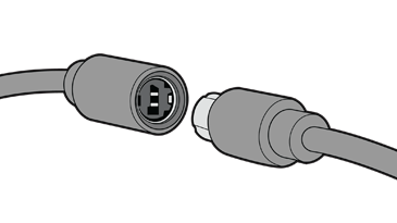 The two plugs of the inline release are disconnected.