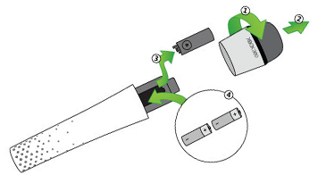 A diagram shows how to open the Xbox 360 Wireless Microphone.