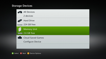 Select any storage device