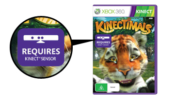 A sample game package shows the 'Requires Kinect Sensor' logo.