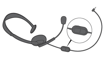A drawing of an Xbox 360 Wired Headset close-up shows the headset volume control.
