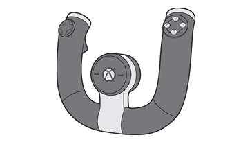 Illustration du volant sans fil Xbox 360